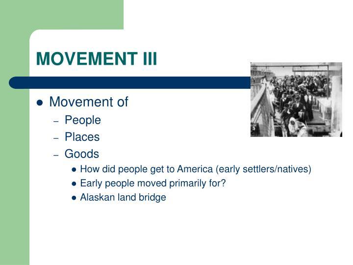 MOVEMENT III