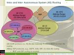 intra and inter autonomous system as routing