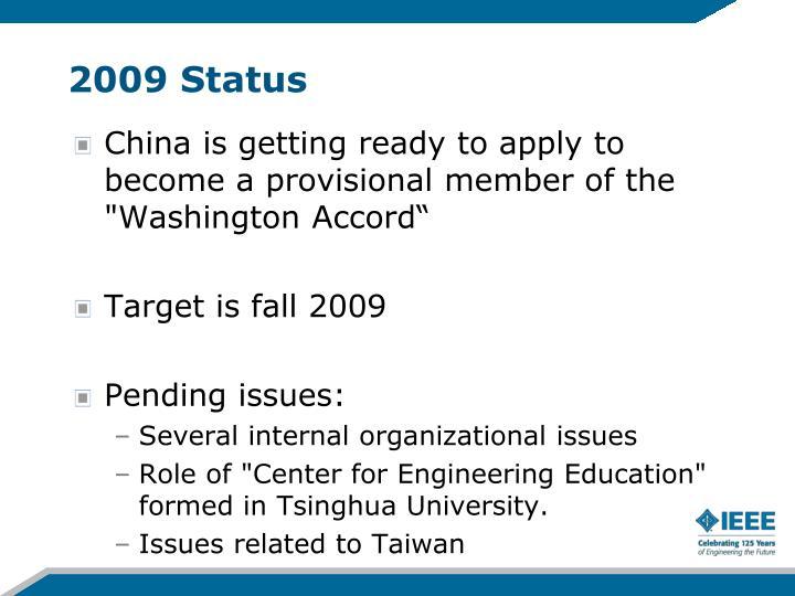 2009 Status