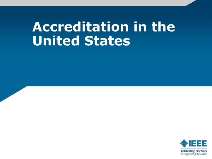 Accreditation in the United States