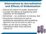alternatives to accreditation and effects of globalization