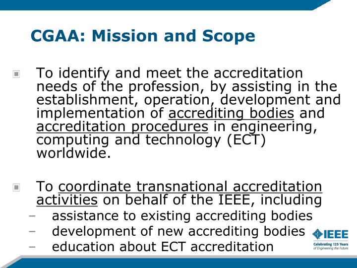 CGAA: Mission and Scope