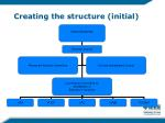 creating the structure initial