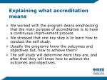 explaining what accreditation means