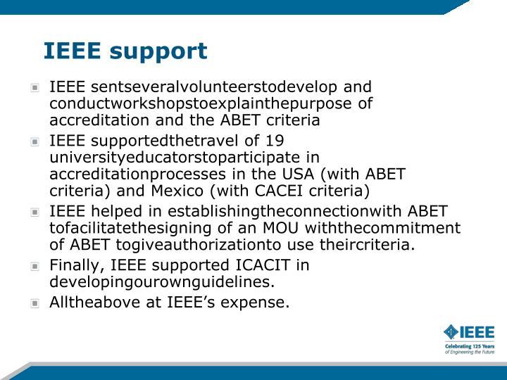 IEEE support