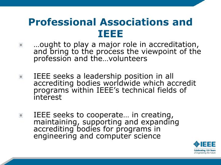 Professional Associations and IEEE