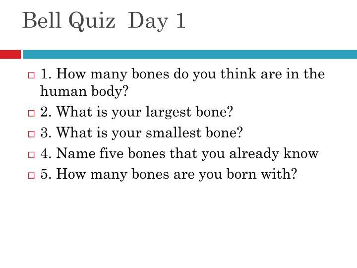 Bell Quiz  Day 1