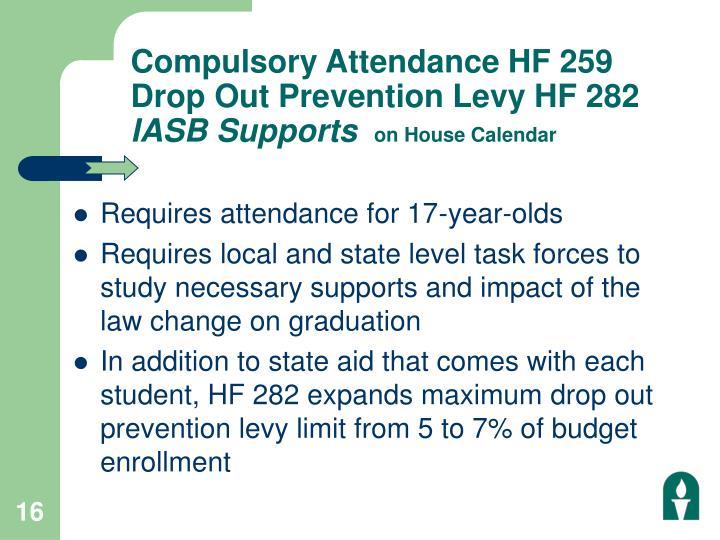 Compulsory Attendance HF 259