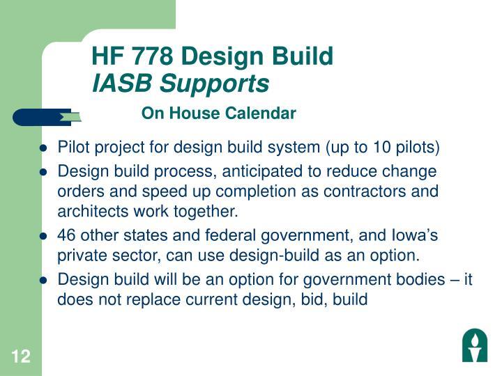 HF 778 Design Build