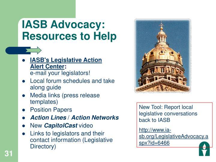 IASB Advocacy: