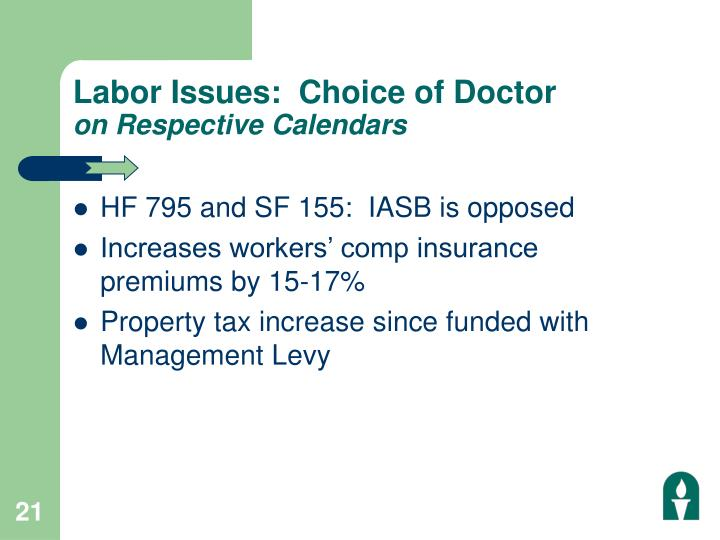 Labor Issues:  Choice of Doctor