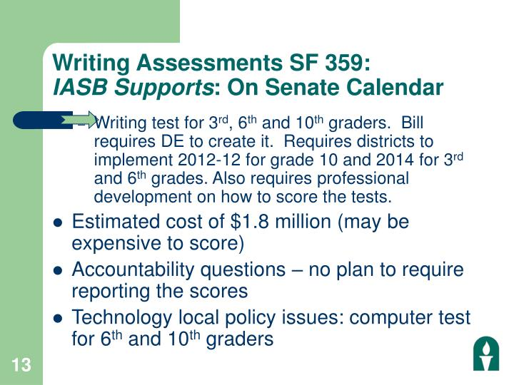 Writing Assessments SF 359: