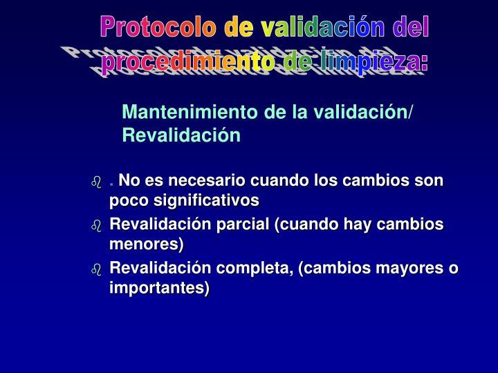 Protocolo de validación del