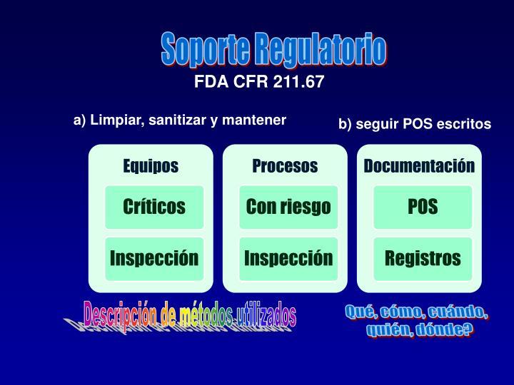 Soporte Regulatorio