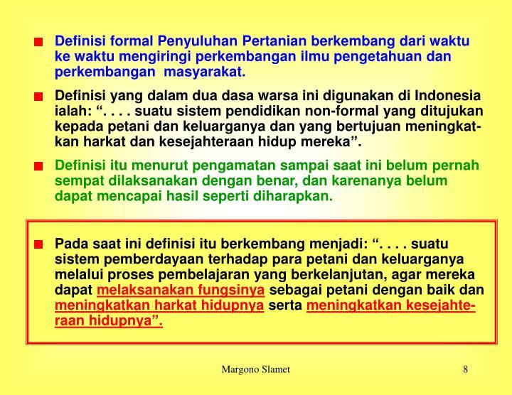 Definisi formal Penyuluhan P