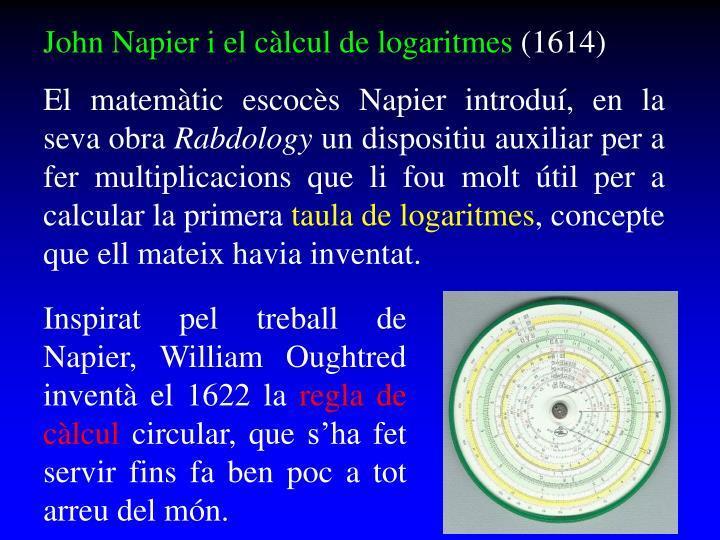 John Napier i el càlcul de logaritmes