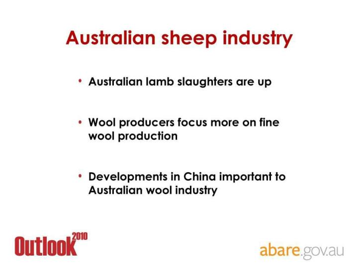 Australian sheep industry