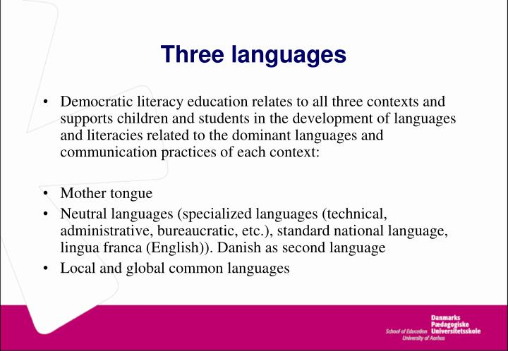 Three languages