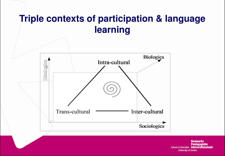 Triple contexts of participation & language learning