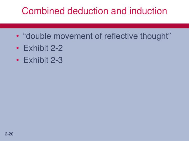 Combined deduction and induction
