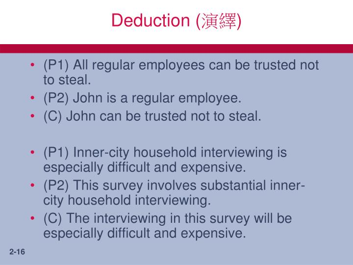Deduction (