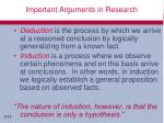 important arguments in research1