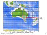 10 5 degree c squares in the australian region