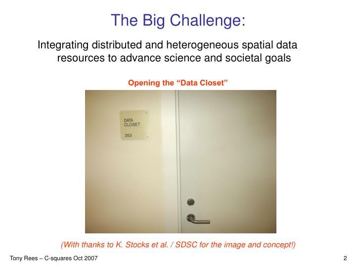 The Big Challenge: