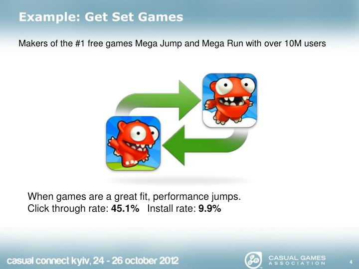 Example: Get Set Games