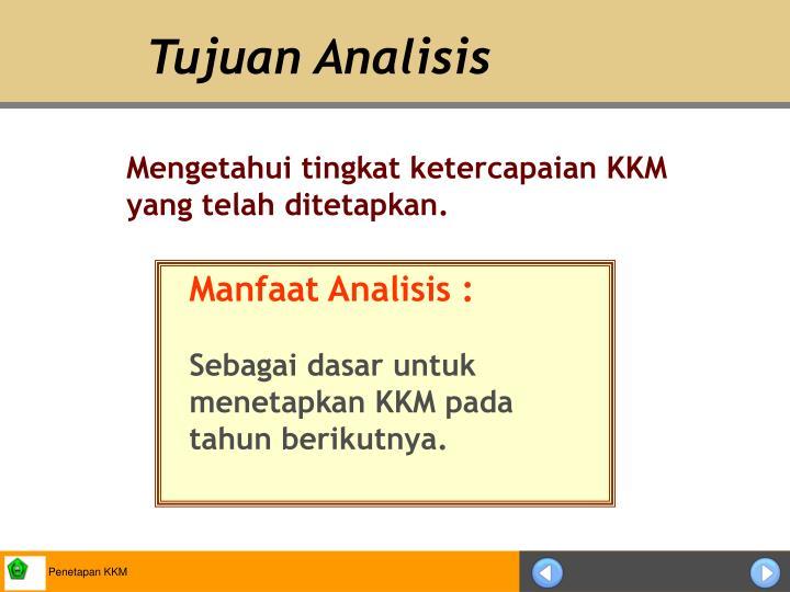 Tujuan Analisis