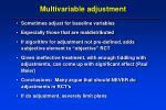 multivariable adjustment
