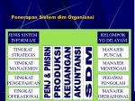 penerapan sistem dlm organisasi