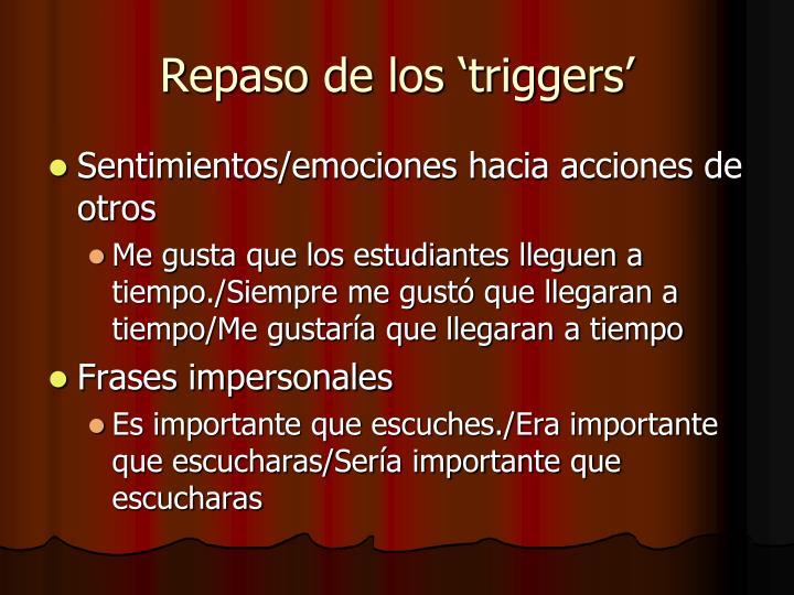Repaso de los 'triggers'