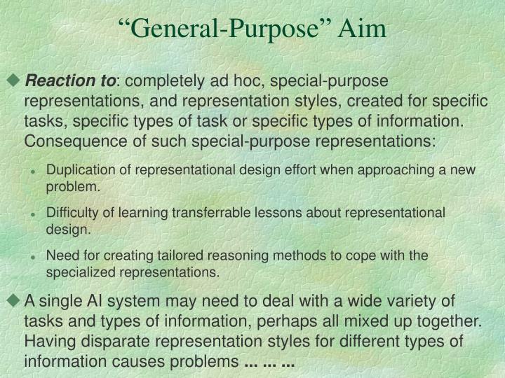 """""""General-Purpose"""" Aim"""