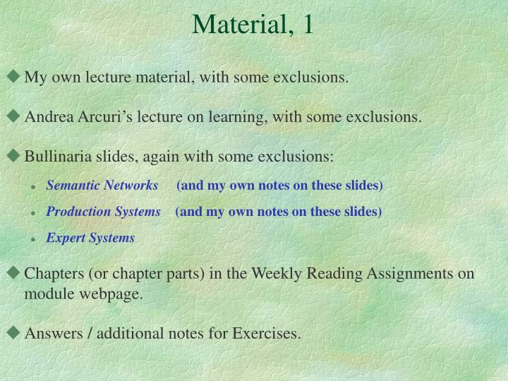 Material, 1