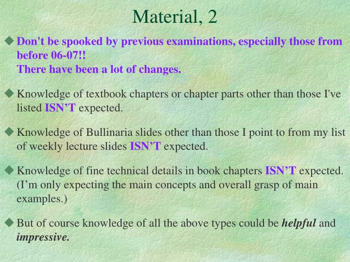 Material, 2