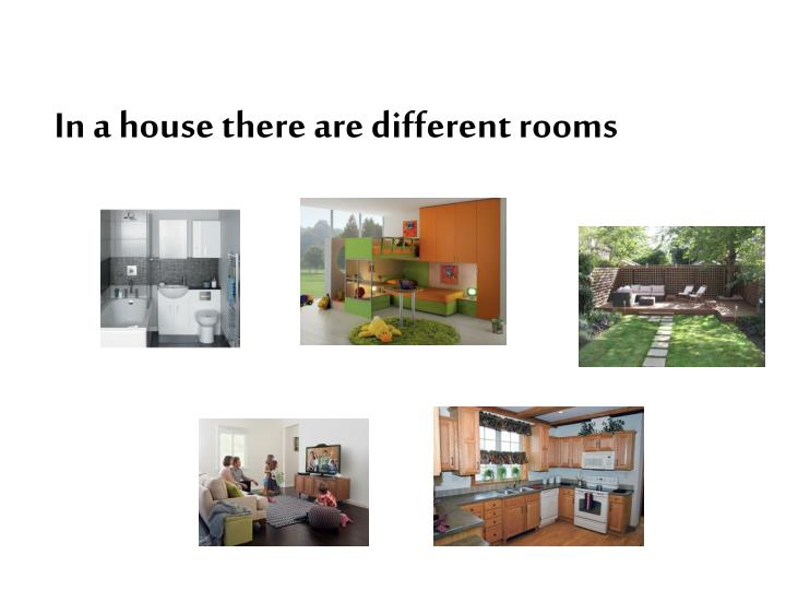 In a house there are different rooms