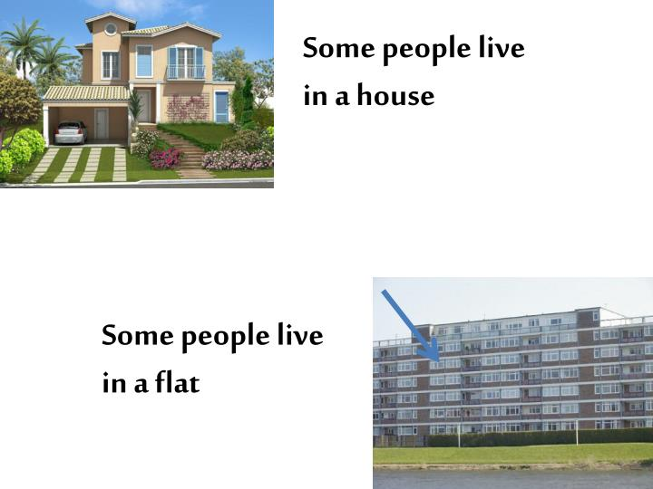 Some people live in a house