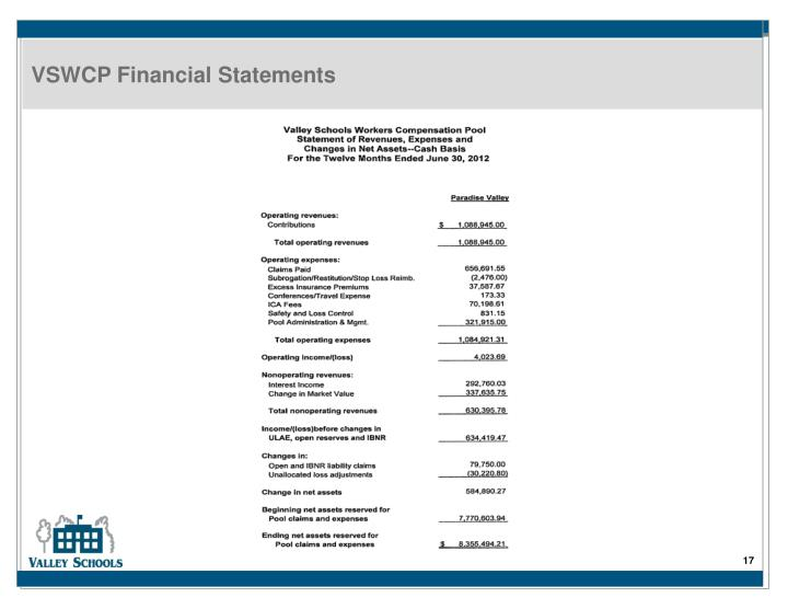 VSWCP Financial Statements