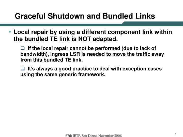 Graceful Shutdown and Bundled Links