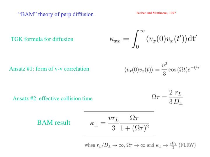 Bam theory of perp diffusion