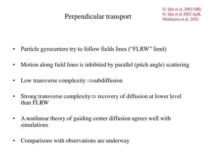 G. Qin et al, 2002 GRL