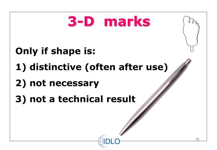 3-D  marks