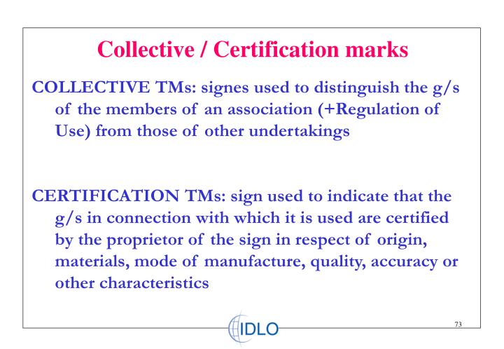 Collective / Certification marks