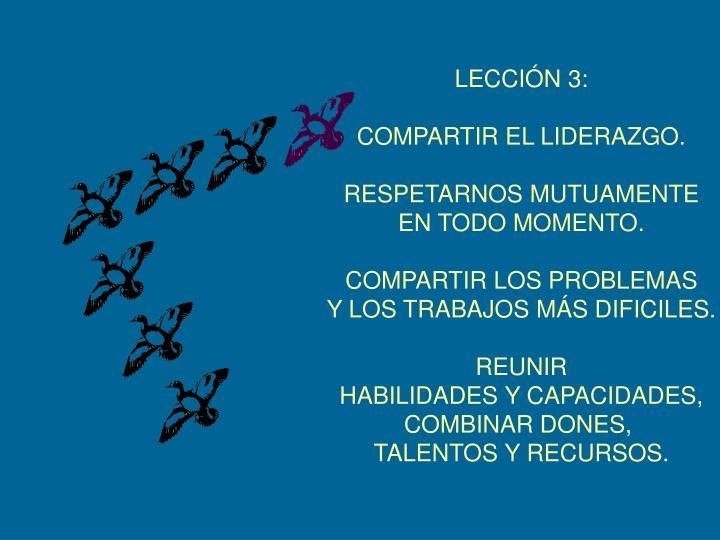 LECCIÓN 3: