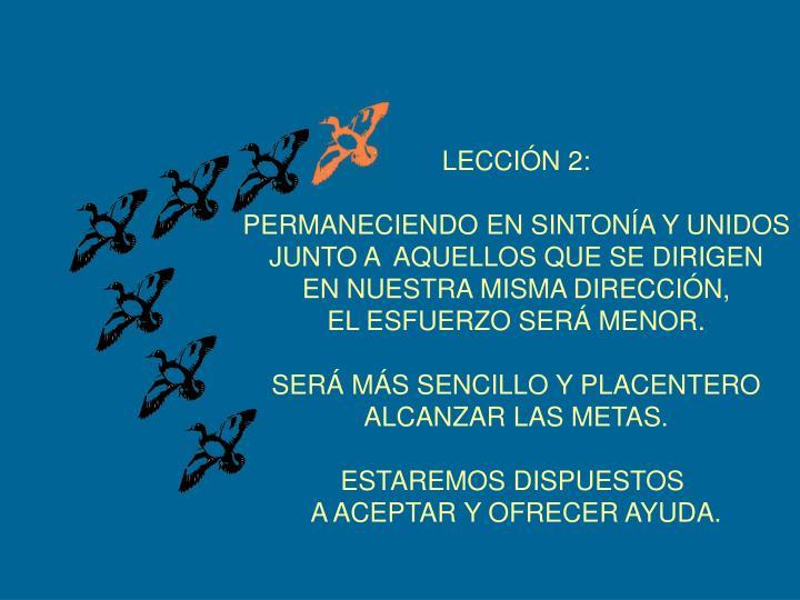 LECCIÓN 2: