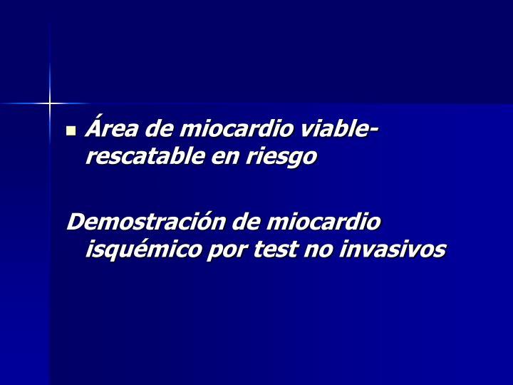 Área de miocardio viable- rescatable en riesgo