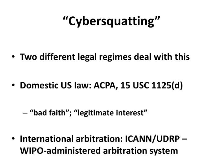 """Cybersquatting"""