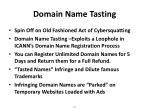 domain name tasting