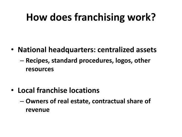 How does franchising work?